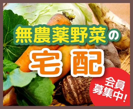 無農薬野菜の宅配 会員募集中!